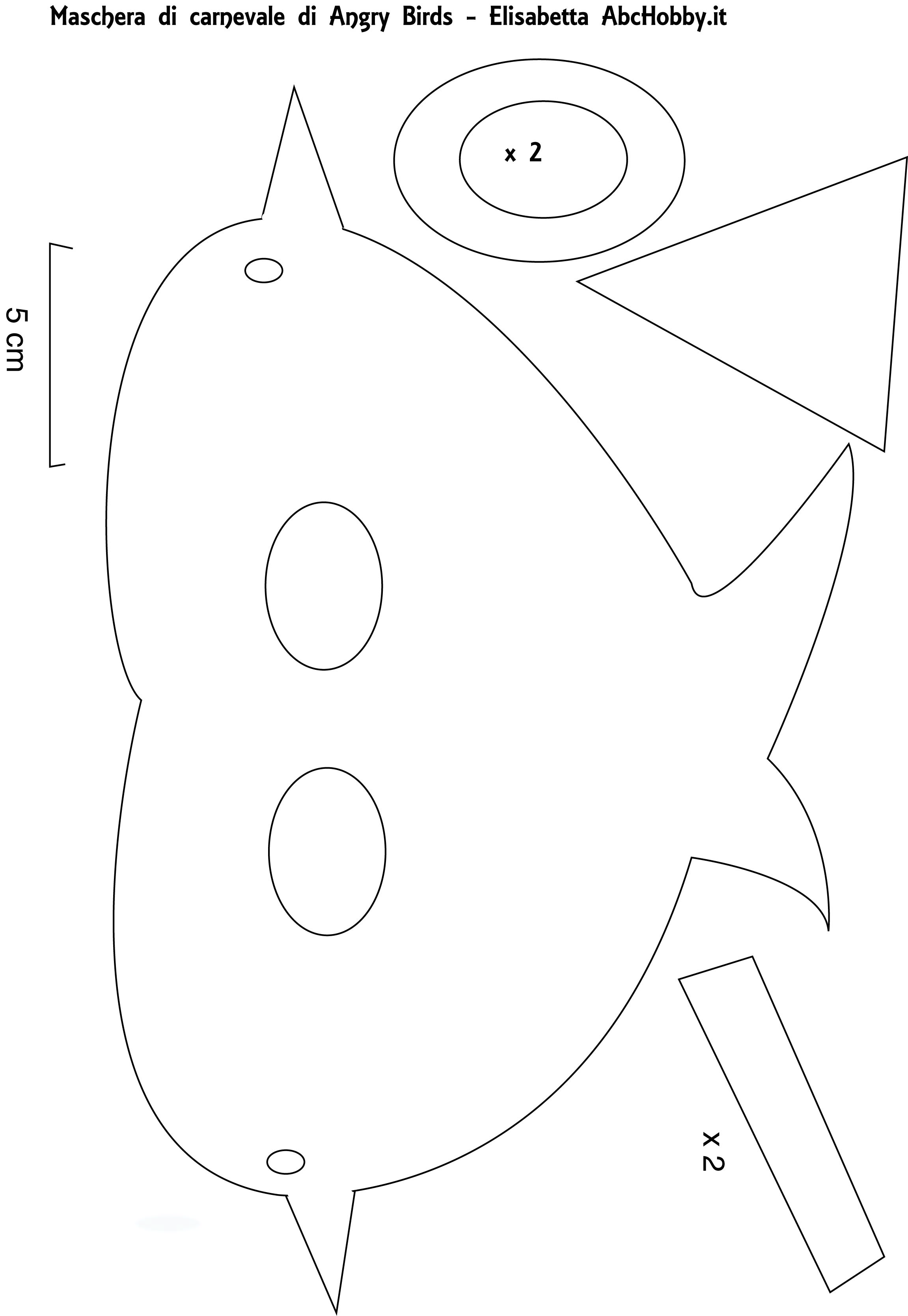 Uncategorized Parrot Mask Template angry bird mask template photo8
