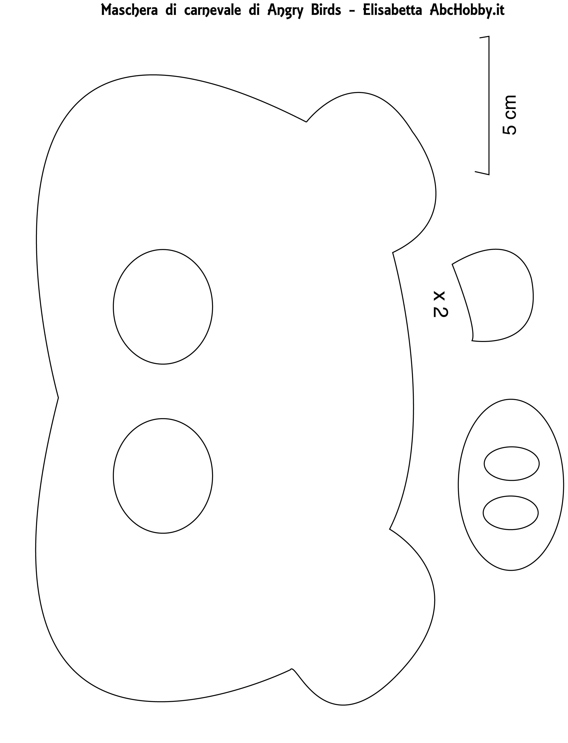 Pig mask template car interior design for Angry bird pig template