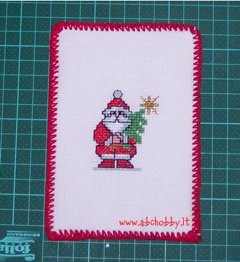 Biglietti Di Natale A Punto Croce.Cartolina Di Natale Ricamata A Punto Croce Abchobby It La Guida
