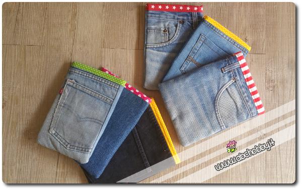 Astucci Porta Quaderni In Jeans La Guida
