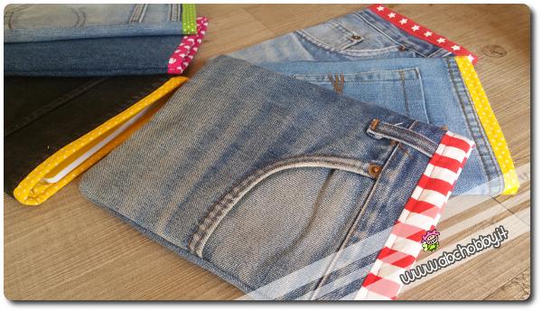 astucci porta quaderni in jeans la guidaForPorta Quaderni