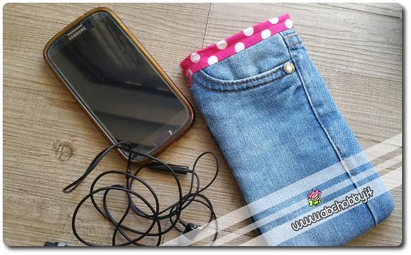 come riciclare i vecchi jeans e cucire un porta cellulare