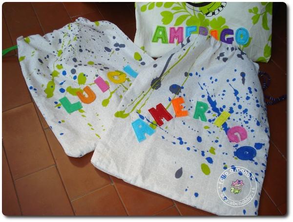 Lettere di stoffa da cucire